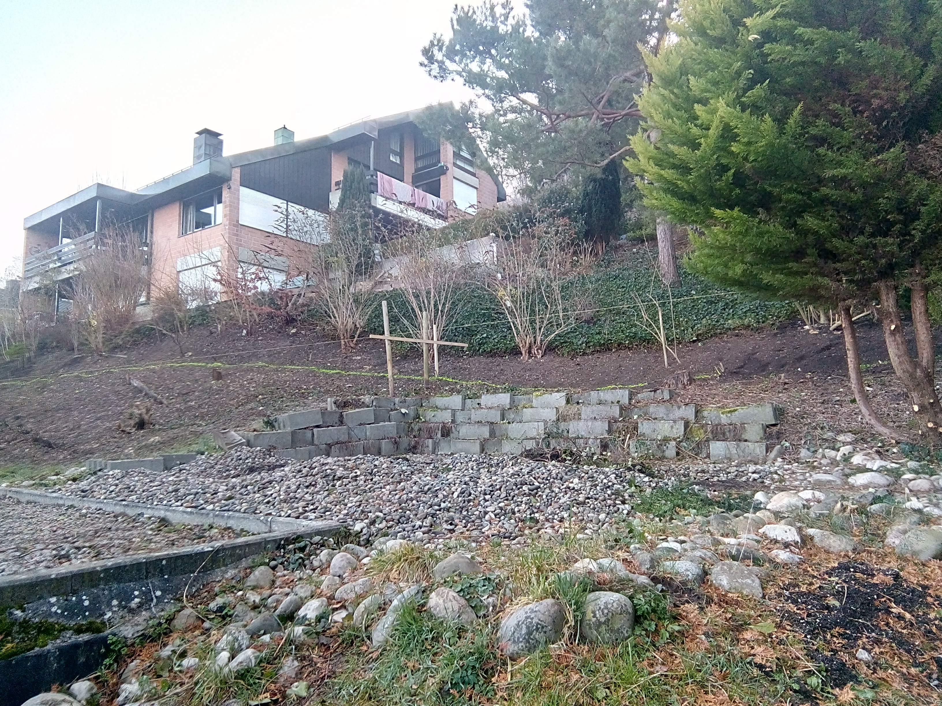 Stützmauer Jura Antico Kalkstein